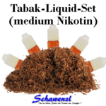Tabak-Liquid Set medium Nikotin