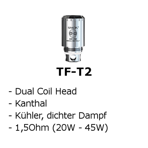 TF-T2 Dual Coil Head (Smok)
