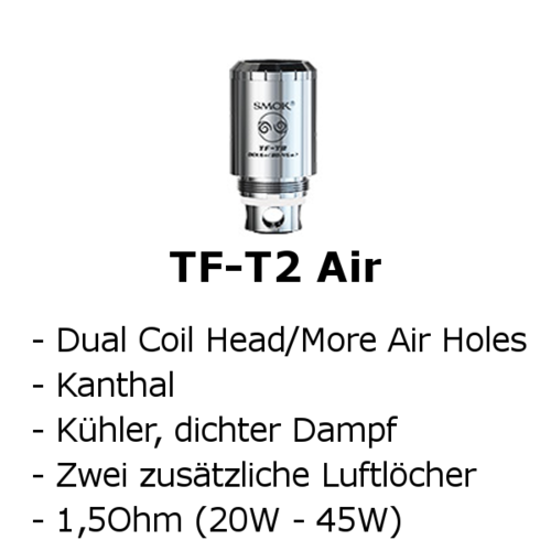 TF-T2 Air Dual Coil Head (Smok)