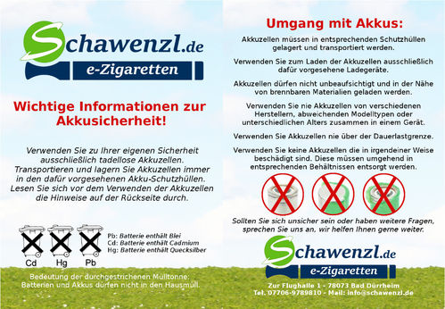 Flyer - Akkusicherheit